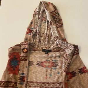 Sleeveless cardigan with hood!